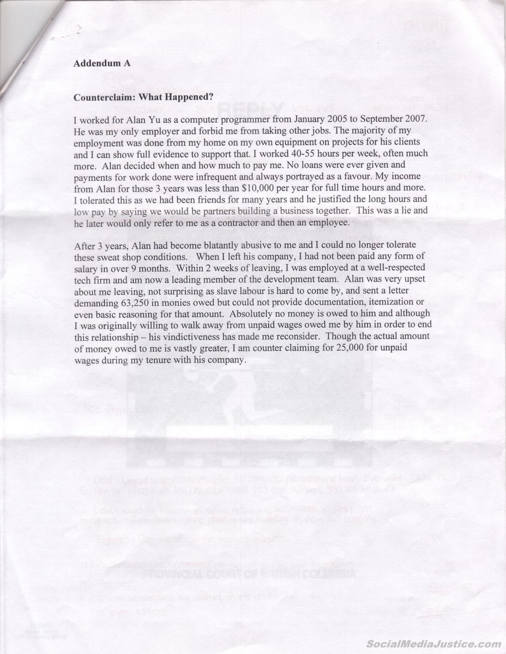 Defendant Story